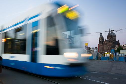 Amsterdam「Amsterdam Tram at Night」:スマホ壁紙(12)