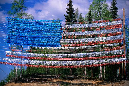 Idaho State Capitol「Streamers in Shape of US Flag」:スマホ壁紙(8)