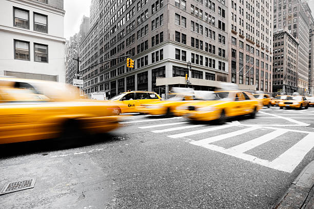 Taxi Traffic New York City:スマホ壁紙(壁紙.com)