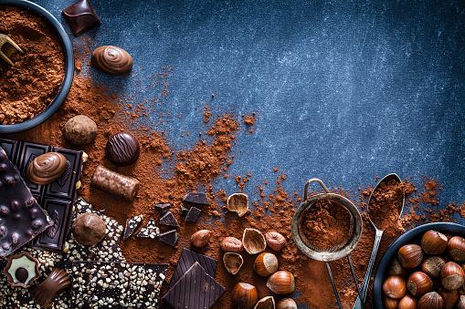 Mint Leaf - Culinary「Chocolate and cocoa powder frame」:スマホ壁紙(13)
