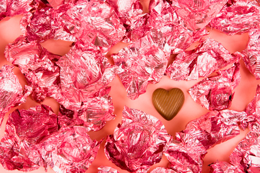 ハート「チョコレートと皮」:スマホ壁紙(11)