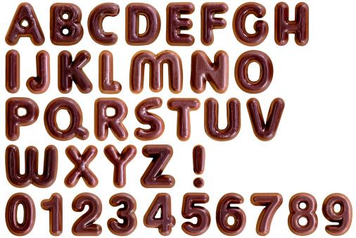 チョコレート「チョコレートのアルファベット」:スマホ壁紙(19)