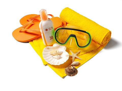 Flip-Flop「Snorkel Mask with Flip Flops and Sun Protection」:スマホ壁紙(8)