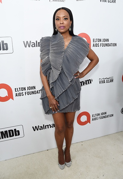 Gray Dress「28th Annual Elton John AIDS Foundation Academy Awards Viewing Party Sponsored By IMDb, Neuro Drinks And Walmart - Red Carpet」:写真・画像(4)[壁紙.com]