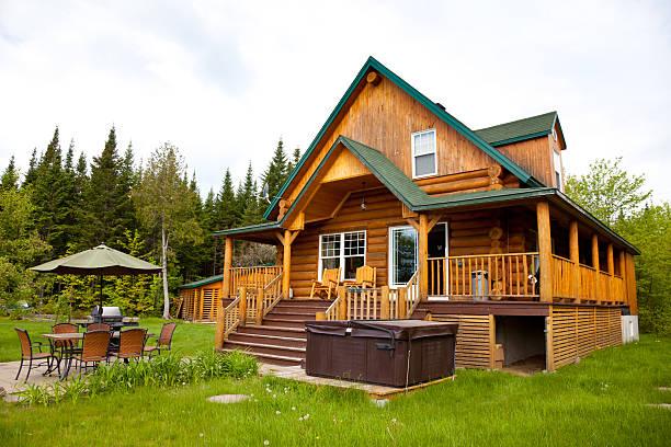 Wooden Cottage, Log Home, Log Cabin:スマホ壁紙(壁紙.com)