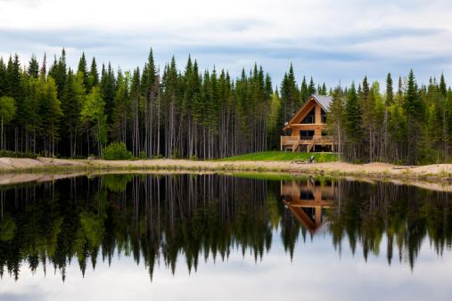 Log「Wooden Cottage, Log Home, Log Cabin」:スマホ壁紙(12)