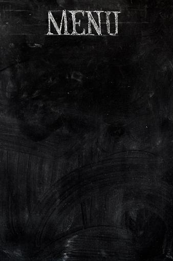 Writing「A black board with a menu label」:スマホ壁紙(1)