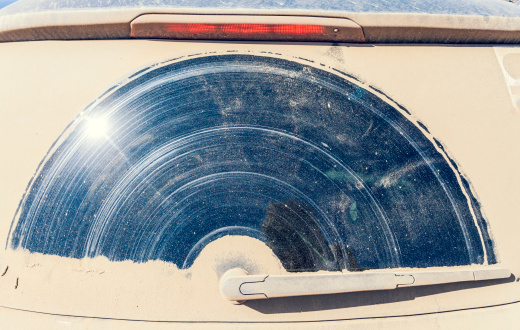 Windshield Wiper「Portugal, Dirty window of car」:スマホ壁紙(8)