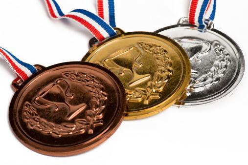 オリンピック「オリンピックメダル白で分離」:スマホ壁紙(18)