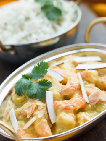 Basmati Rice「Tiger Prawn Korma Restaurant Style with Basmati Rice」:スマホ壁紙(1)