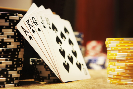 Uncertainty「Gambling Poker Hand Royal Flush Spades」:スマホ壁紙(0)