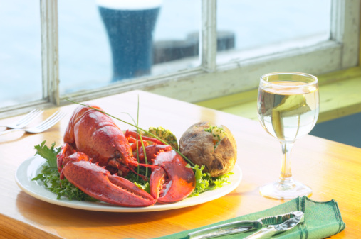 Baked Potato「Lobster entree with wine」:スマホ壁紙(2)