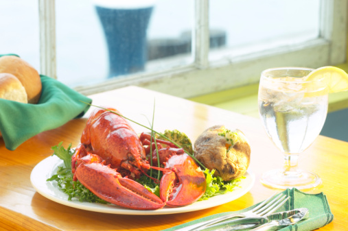 Baked Potato「Lobster entree with wine」:スマホ壁紙(17)