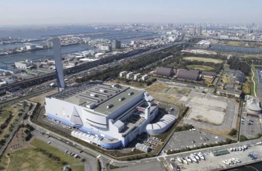 Koto Ward「Koto Industrial Area, Aerial View, Pan Focus」:スマホ壁紙(19)