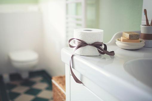 Washing「Toilet paper as a nice gift」:スマホ壁紙(14)