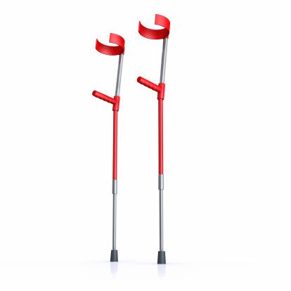 Healing「Red crutches on a white background」:スマホ壁紙(0)