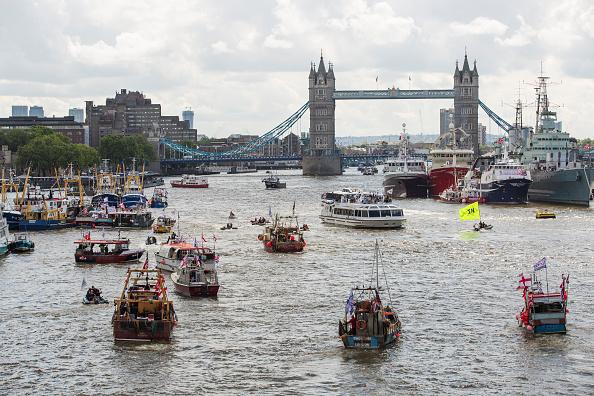 テムズ川「Nigel Farage Joins Fishing For Leave On A Flotilla Down The Thames」:写真・画像(5)[壁紙.com]
