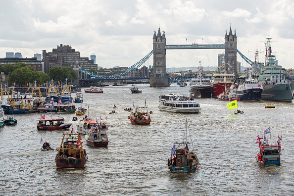 Thames River「Nigel Farage Joins Fishing For Leave On A Flotilla Down The Thames」:写真・画像(9)[壁紙.com]