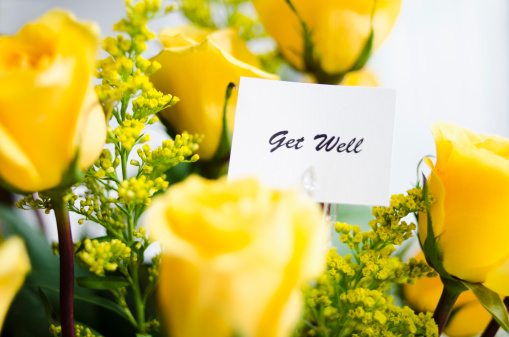Healing「Get well card on bouquet of roses」:スマホ壁紙(15)