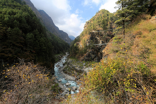 Khumbu「The Dudh Koshi river valley around Monjo village」:スマホ壁紙(3)