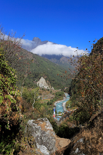 Khumbu「The Dudh Koshi river valley near Lukla」:スマホ壁紙(18)