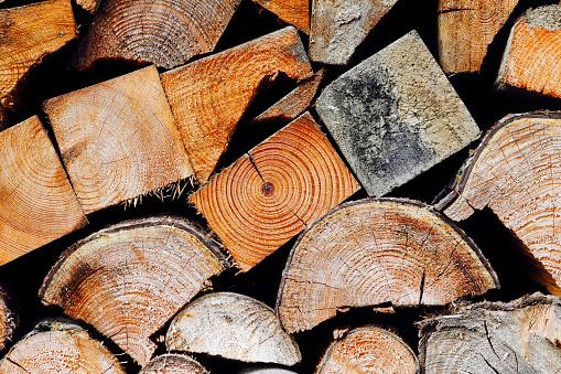 Log「Firewood, close-up」:スマホ壁紙(1)