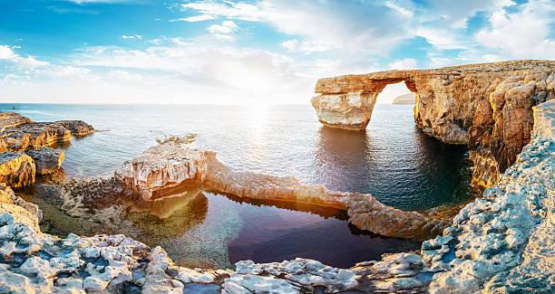 Azure window in sunset, Malta:スマホ壁紙(壁紙.com)