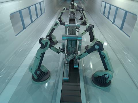 Robot Arm「Conveyor belt with arms and metal」:スマホ壁紙(19)