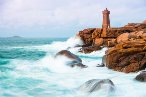 Atlantic Ocean「Phare de Men Ruz, Bretagne」:スマホ壁紙(15)