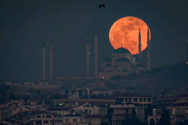 Eclipse「Rare Super Blood Moon Is Visible In Istanbul」:写真・画像(7)[壁紙.com]