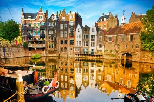 South Holland「Historic cityscape of Delfshaven, Rotterdam」:スマホ壁紙(14)
