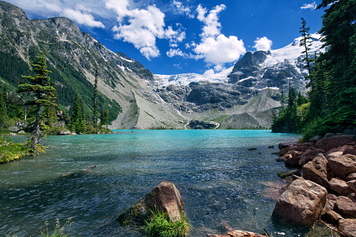 Panoramic「Joffre Lakes in summer, BC, Canada」:スマホ壁紙(3)