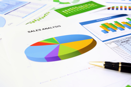 Financial Report「Graphs and charts」:スマホ壁紙(6)