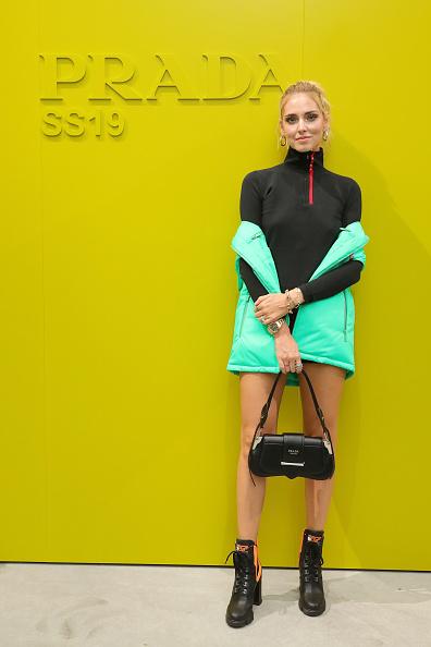 Prada「Prada Spring/Summer 2019 Womenswear Fashion Show Arrivals and Front R」:写真・画像(10)[壁紙.com]