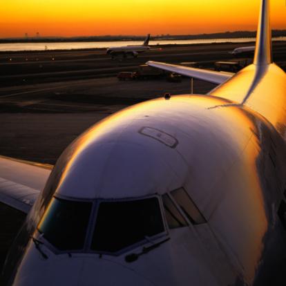 Kennedy Airport「Airplane at Sunset」:スマホ壁紙(7)