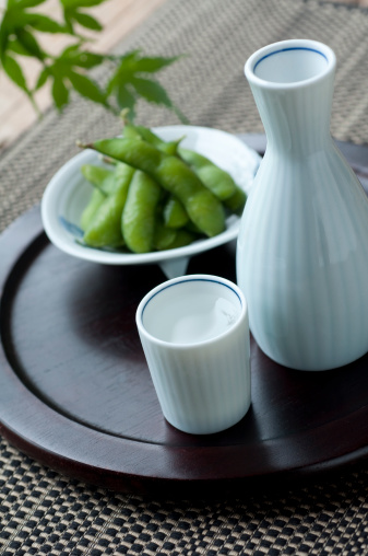 Sake「Japanese Sake and Edamame」:スマホ壁紙(19)