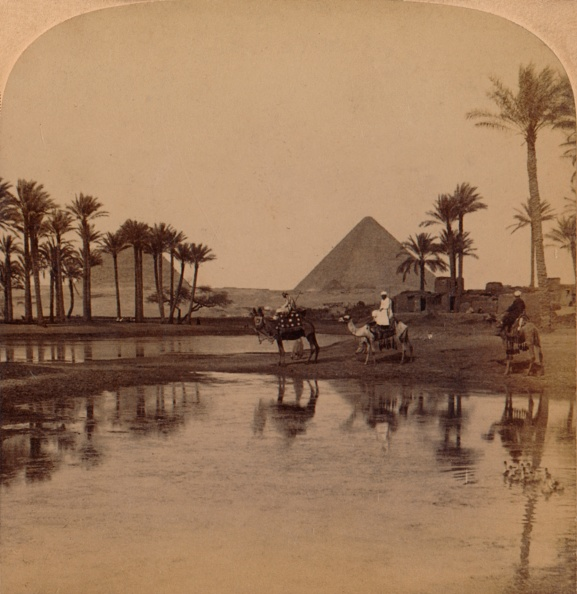 Water Surface「'Cheops from the fertile Valley of the Nile, Egypt', 1896」:写真・画像(2)[壁紙.com]