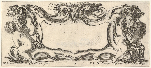 Sparse「Plate 2: A Cartouche With A Child Seen From The Back To Left And A Child Seen From」:写真・画像(0)[壁紙.com]