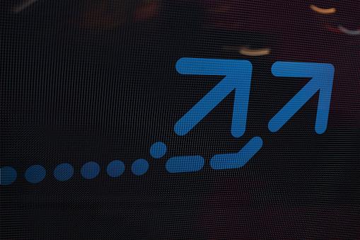 Quantum Computing「Arrow on abstract graphic background」:スマホ壁紙(12)