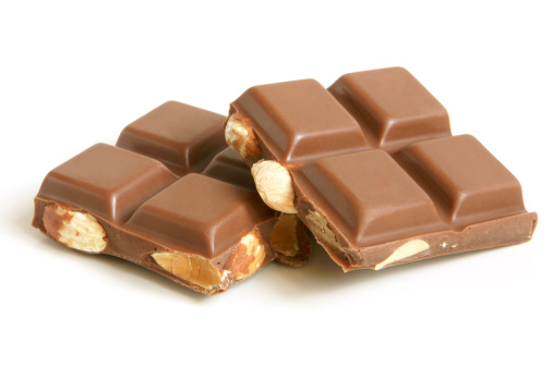 Milk Chocolate「Chocolate pieces with nuts」:スマホ壁紙(14)