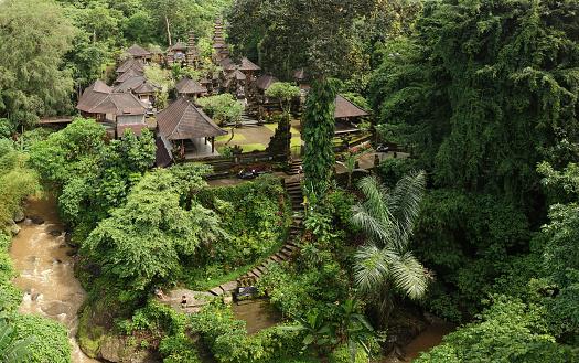 Ubud District「Pura Gunung Lebah Temple in Ubud Rainforest, Indonesia」:スマホ壁紙(14)