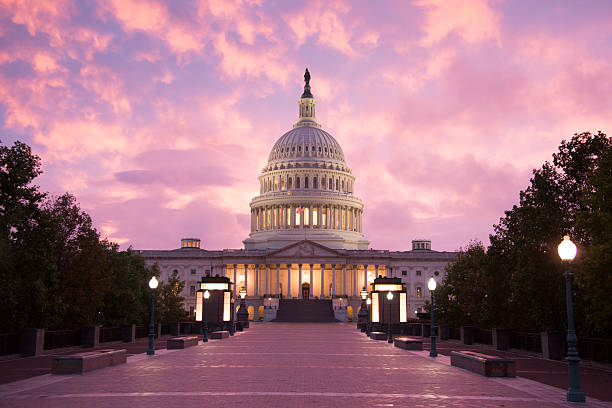 Capitol Building Sunset - Washington DC:スマホ壁紙(壁紙.com)