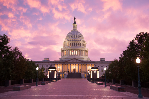 Democracy「Capitol Building Sunset - Washington DC」:スマホ壁紙(2)