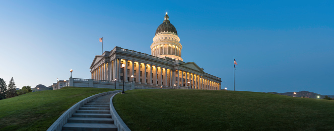 Local Government Building「Capitol Building illuminated at dusk Salt Lake City Utah」:スマホ壁紙(8)