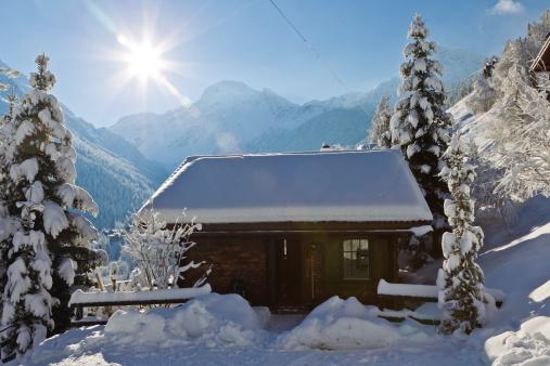 Ski Resort「Chalet in the Swiss Alps mountains」:スマホ壁紙(2)