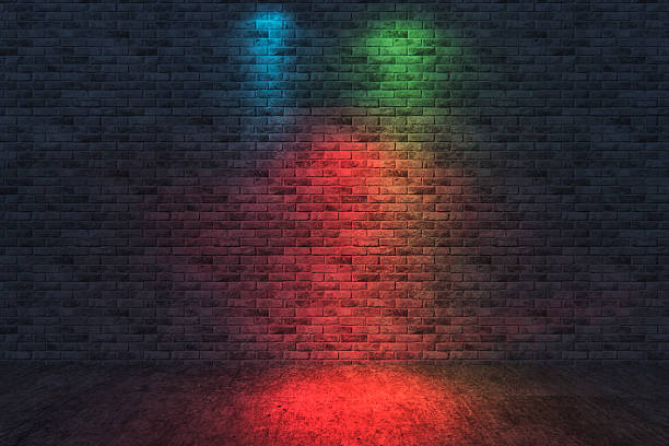 Street scene, brick wall background, dark:スマホ壁紙(壁紙.com)