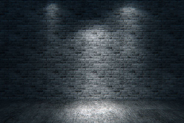 Street scene, brick wall background, dark:スマホ壁紙(壁紙.com)