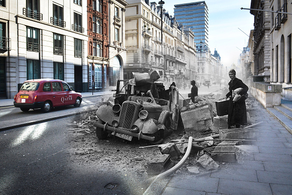 Multiple Exposure「Scenes From The London Blitz - Now and Then」:写真・画像(17)[壁紙.com]