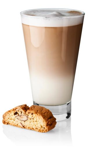 Latte「Caffe latte with biscotti」:スマホ壁紙(8)