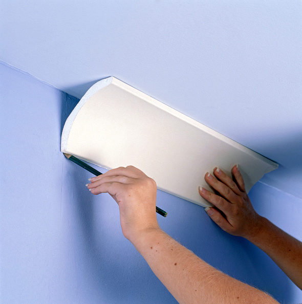 Ceiling「Coving with Precast plaster cornices」:写真・画像(8)[壁紙.com]